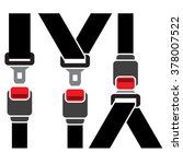 safety seatbelt icon   diagonal ... | Shutterstock .eps vector #378007522