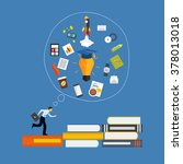 learning  training to  make... | Shutterstock .eps vector #378013018