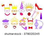 hen party ideas. photo booth... | Shutterstock .eps vector #378020245