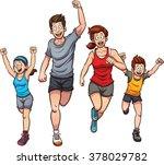 family of runners. vector clip... | Shutterstock .eps vector #378029782