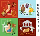 ancient greece and rome... | Shutterstock .eps vector #378031252