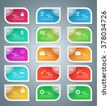 business infographics origami... | Shutterstock .eps vector #378034726