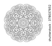 mandala. doodle drawing. round... | Shutterstock .eps vector #378037852