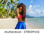 outdoor lifestyle portrait of... | Shutterstock . vector #378039142