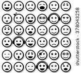 set of emoticons. isolated... | Shutterstock .eps vector #378043258