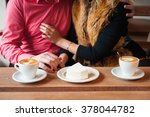 young couple have fun during... | Shutterstock . vector #378044782