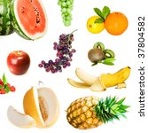 healthy eating set | Shutterstock . vector #37804582