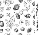 seamless vector hand drawn... | Shutterstock .eps vector #378049696