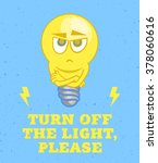 light bulb character and... | Shutterstock .eps vector #378060616