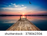 perspective view of a wooden... | Shutterstock . vector #378062506