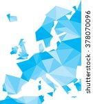 blue polygonal europe vector map | Shutterstock .eps vector #378070096