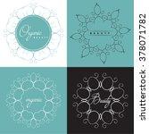 vector set of emblems or logo... | Shutterstock .eps vector #378071782