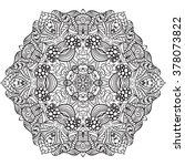 adult coloring page. mandala... | Shutterstock .eps vector #378073822