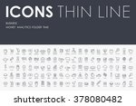 business thin line icons | Shutterstock .eps vector #378080482