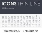 shopping thin line icons | Shutterstock .eps vector #378080572