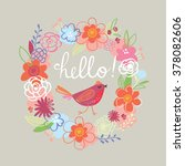 floral design card | Shutterstock .eps vector #378082606