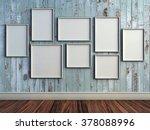 mock up poster frame in rustic... | Shutterstock . vector #378088996