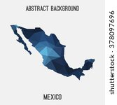 mexico map in geometric... | Shutterstock .eps vector #378097696