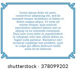 blue border frame deco vector... | Shutterstock .eps vector #378099202