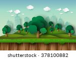 landscape with building trees... | Shutterstock .eps vector #378100882