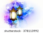vector illustration ramadan... | Shutterstock .eps vector #378113992