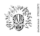 human skull. sketchy style.   Shutterstock .eps vector #378122872