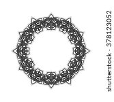 ornate border. gothic lace... | Shutterstock . vector #378123052