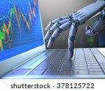robot hand  ordering on a... | Shutterstock . vector #378125722