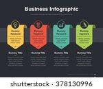 Flat business presentation vector slide template with label diagram | Shutterstock vector #378130996