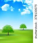 tree leaves fresh green... | Shutterstock .eps vector #378133075