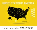 united states of america map ... | Shutterstock .eps vector #378139456