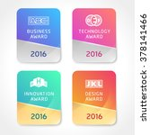award icons. vector silver and... | Shutterstock .eps vector #378141466