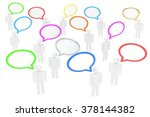 people with talk bubbles... | Shutterstock . vector #378144382