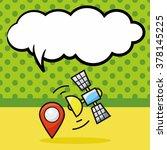 gps doodle  speech bubble | Shutterstock .eps vector #378145225