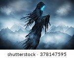illustration of a grim reaper... | Shutterstock . vector #378147595