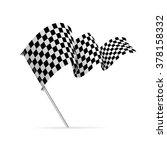 single checkered racing flag... | Shutterstock .eps vector #378158332