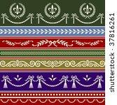 vector repeating classic borders | Shutterstock .eps vector #37816261