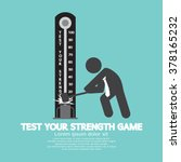 test your strength game symbol... | Shutterstock .eps vector #378165232