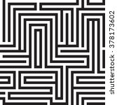 black   white maze design made... | Shutterstock .eps vector #378173602