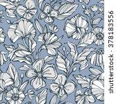 seamless hand drawn spring... | Shutterstock .eps vector #378183556