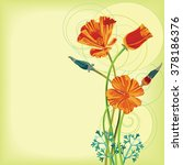 bunch of california poppy... | Shutterstock .eps vector #378186376