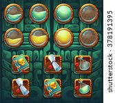 jungle shamans gui icons... | Shutterstock .eps vector #378191395