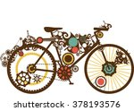 steampunk illustration of a... | Shutterstock .eps vector #378193576