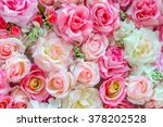 Stock photo soft color roses background 378202528