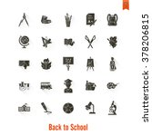 school and education icon set.... | Shutterstock . vector #378206815