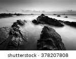 long exposure seascape in black ... | Shutterstock . vector #378207808