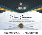 certificate template with... | Shutterstock .eps vector #378208498