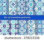 set of mexican stylized... | Shutterstock .eps vector #378215236
