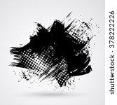 figured brush strokes brush and ... | Shutterstock . vector #378222226