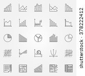 statistics icons set   vector... | Shutterstock .eps vector #378222412